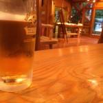 椹島でビール!天国だ